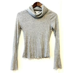 American Rag Ribbed Knit Cowl Neck Top